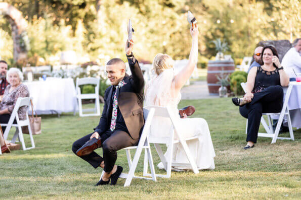 happy couples wedding planning